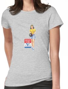 Pin up WW2 Bowlers Victory Legion  Womens Fitted T-Shirt