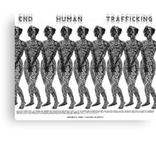 End Human Trafficking Poster Canvas Print