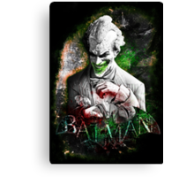 Batman Arkham City Joker Canvas Print