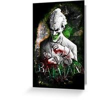 Batman Arkham City Joker Greeting Card