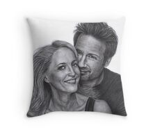 Gillian Anderson and David Duchovny Throw Pillow