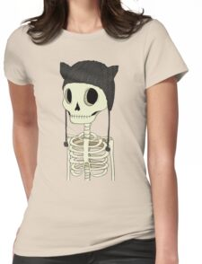 Skeleton Kitty Womens Fitted T-Shirt