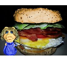 "MISS PIGGY SAYS ""THIS LOOKS GOOD..BUT I'M NOT CRAZY ABOUT ONE INGREDIENT LOL""..CAN U GUESS WHAT THAT MIGHT BE?? OINK OINK - PICTURE - CARD Photographic Print"