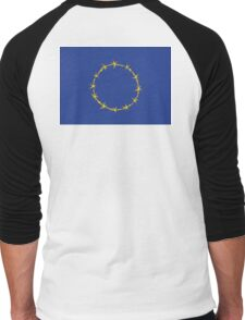 Flag of Fort Europe, EU, European Union, ? Men's Baseball ¾ T-Shirt