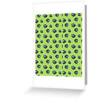 Cute Blueberrys with eyes Greeting Card