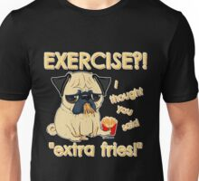 Pugs with Extra Fries Unisex T-Shirt