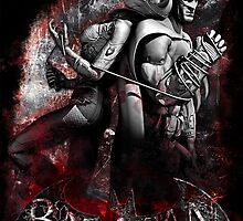Batman & Catwoman Arkham City by sazzed