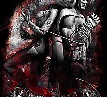 Batman & Catwoman Arkham City by sazzed