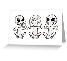 3 ufo Greeting Card