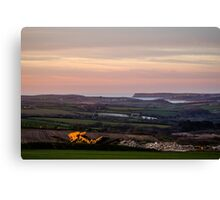 Looking towards the Camel Estuary & Padstow Canvas Print