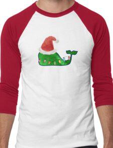 Preppy Christmas Whale Men's Baseball ¾ T-Shirt