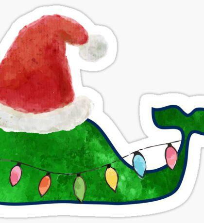 Preppy Christmas Whale Sticker