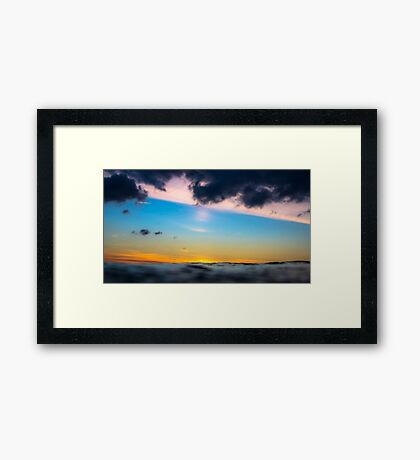 Sunset from the sea Framed Print