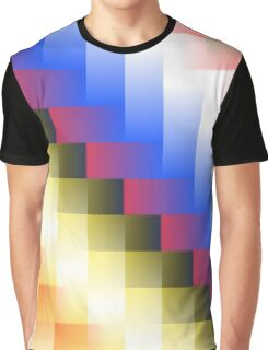 Color and Grid Graphic T-Shirt