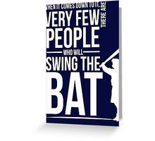 Take a Swing Greeting Card