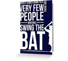 Take a Swing Greeting Card