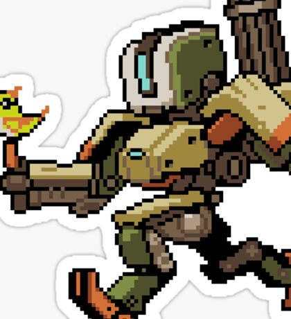 Bastion Pixel Spray Sticker