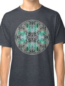 flower of life teal grey Classic T-Shirt