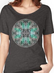 flower of life teal grey Women's Relaxed Fit T-Shirt