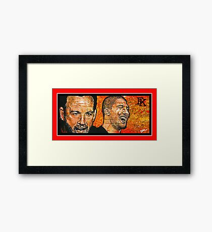 """""""The Fighter and The Kid""""  Framed Print"""