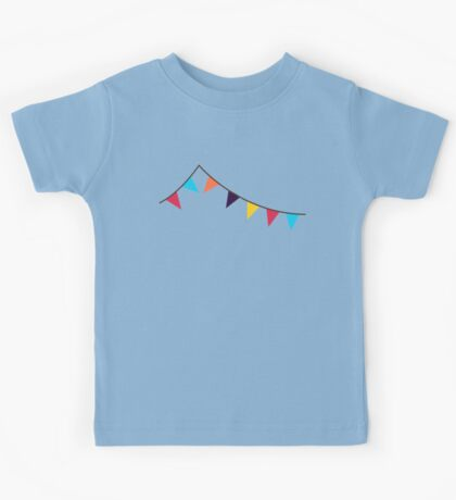 Bunting, Flags, Party, Celebration Kids Tee