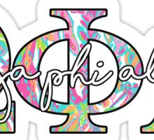 Omega Phi Alpha Lilly Colorful Sticker