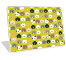 Cute colorful Cat heads Laptop Skin