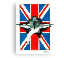 Spitfire illustration Canvas Print