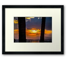 Tropical sunset, Indonesia Framed Print