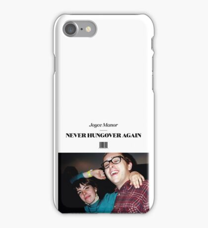 Joyce Manor - Never Hungover Again album art iPhone Case/Skin