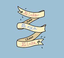 Girls Chase Boys Ribbon Unisex T-Shirt