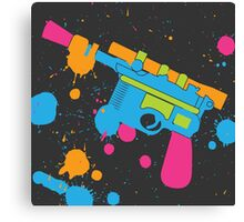 Han Solo Blaster Paint Splatter (Full Color) Canvas Print