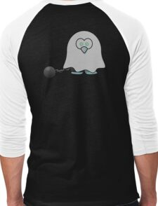 Ghost of a Penguin, Cute, Cartoon, Spook, Halloween Men's Baseball ¾ T-Shirt