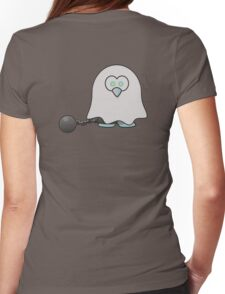 Ghost of a Penguin, Cute, Cartoon, Spook, Halloween Womens Fitted T-Shirt