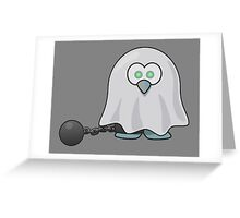 Ghost, Penguin, Cute, Cartoon, Spook, Halloween Greeting Card
