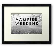 Vampire Weekend Poster Framed Print
