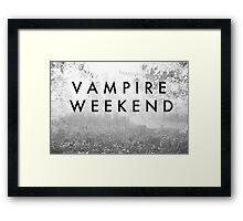 Vampire Weekend Poster Framed Print