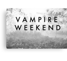Vampire Weekend Poster Canvas Print