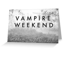Vampire Weekend Poster Greeting Card