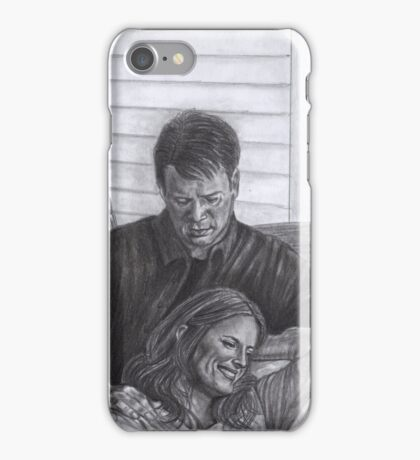 Castle and Beckett - Relax on the porch swing iPhone Case/Skin