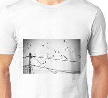 Birds not on a wire Unisex T-Shirt