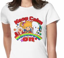 Keep Calm & Rainbow On (Light) Womens Fitted T-Shirt