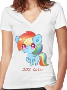 20% Cuter Women's Fitted V-Neck T-Shirt