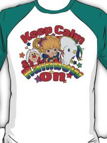 Keep Calm and Rainbow On (Dark) T-Shirt