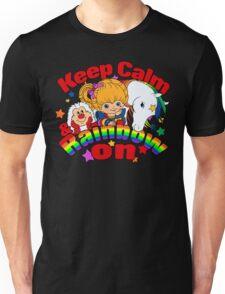 Keep Calm and Rainbow On (Dark) Unisex T-Shirt