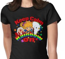 Keep Calm and Rainbow On (Dark) Womens Fitted T-Shirt