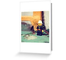 ::: { THE FIREMAN } ::: Greeting Card