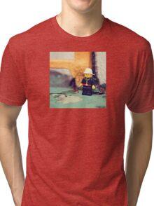 ::: { THE FIREMAN } ::: Tri-blend T-Shirt