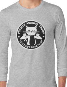 Pussies Against Trump Black Long Sleeve T-Shirt