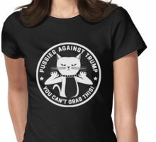 Pussies Against Trump Black Womens Fitted T-Shirt